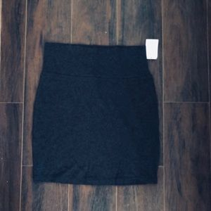 Charlotte Russe Skirts - Dark grey bodycon skirt